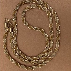 23' Silver, Gold plated necklace